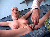 Flexi dolls first dildo lesson.